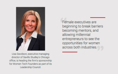 Chicago Becomes Leading City for Female Tech Founders; Savills Studley Supports the Cause